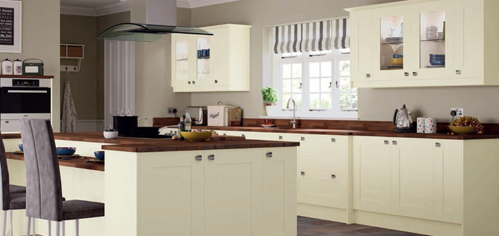 Portland Ivory Shaker Replacement Kitchen Cupboard Doors