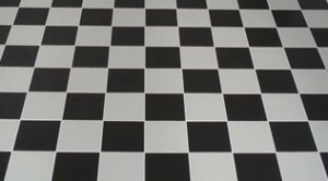Chessboard Kitchen Floor