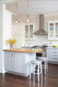 Light colours make small kitchens appear larger