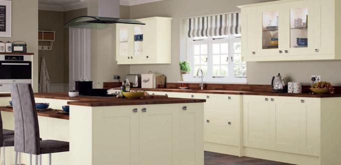 Portland Ivory Shaker Replacement Kitchen Cupboard Doors