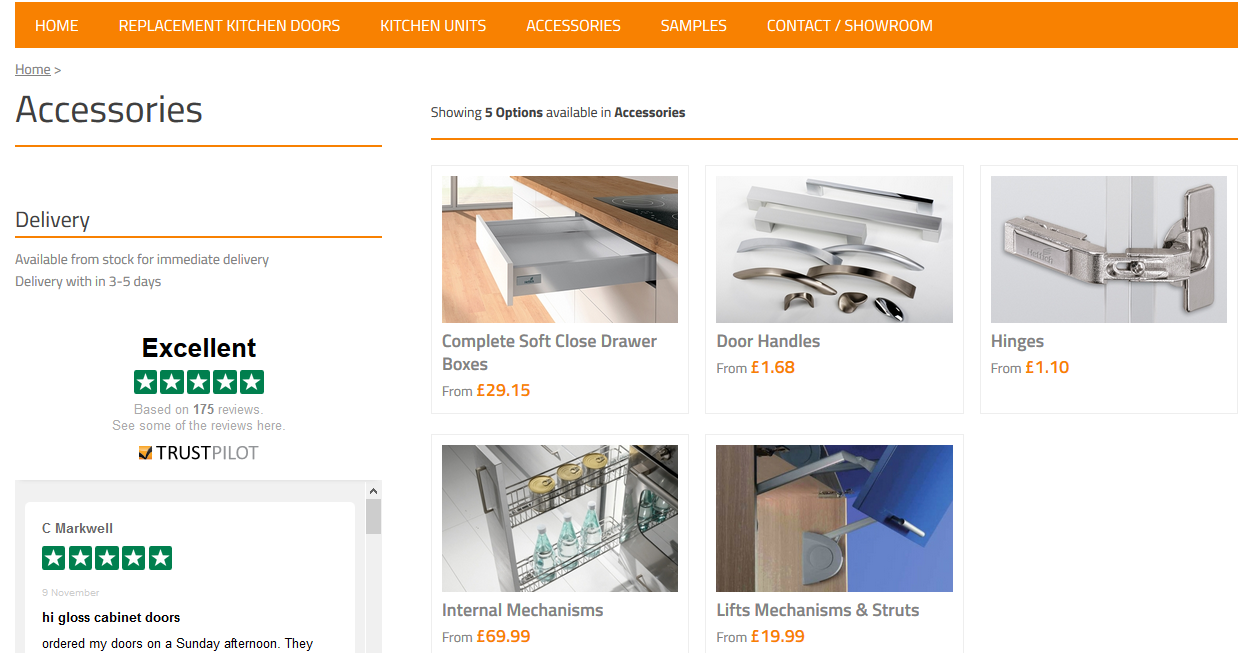 Next up is our accessories section where we supply all the extra items you need to fully install your kitchen units and doors.  sc 1 st  Hot Doors & Hot Doorsu0027 New Website Launches - Hot Doors pezcame.com