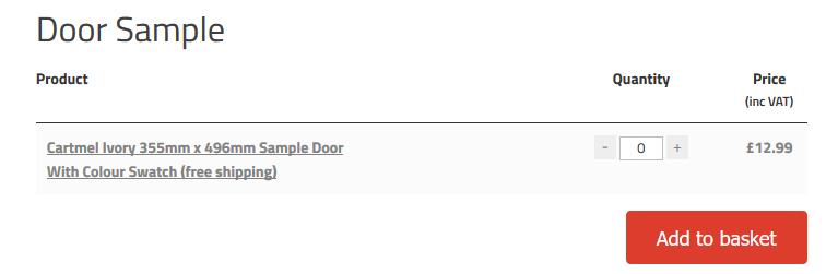 kitchen door samples
