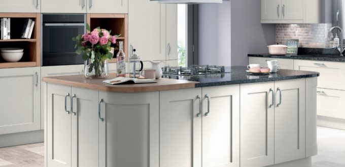 Oxford light grey kitchen doors