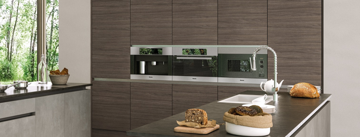 Valore Grey Brown Ontario Walnut kitchen doors