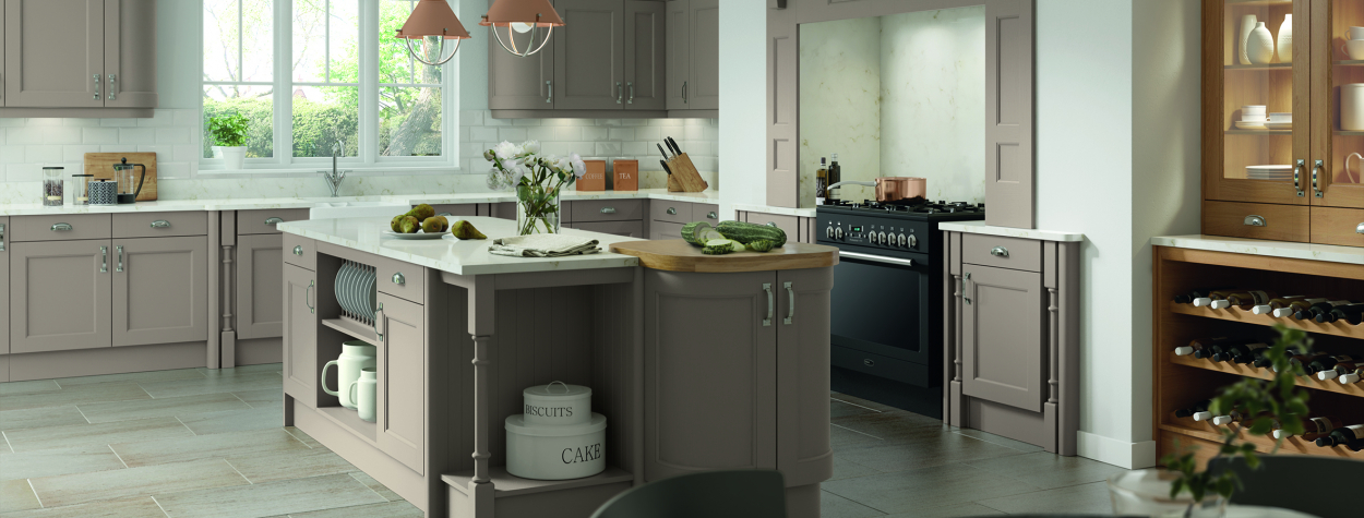 Windsor stone grey kitchen doors
