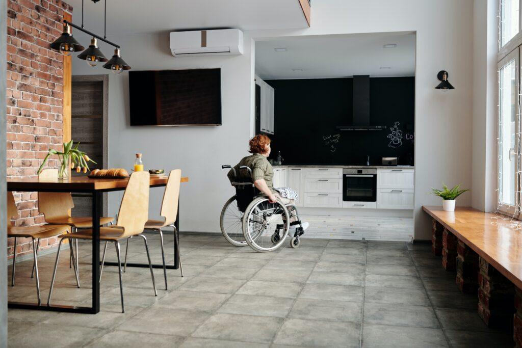 wheelchair access kitchen