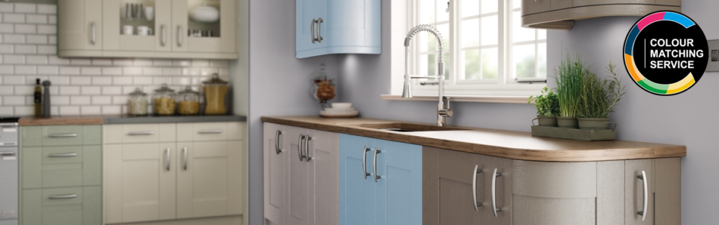 Colour matching service - hand painted kitchen cupboard doors