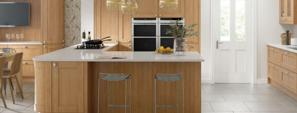 Cambridge oak real wood kitchen cabinet doors