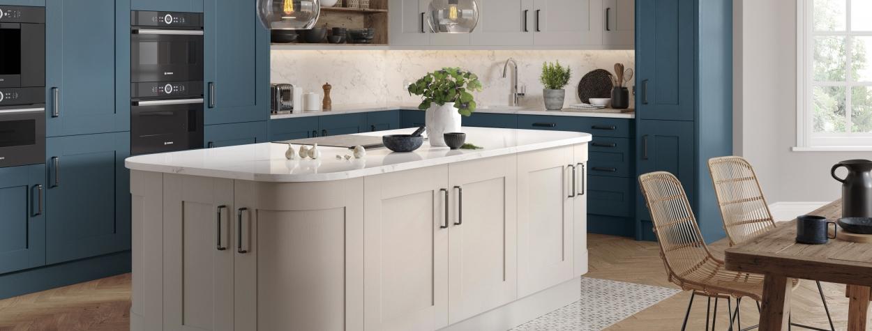 Oakgrain 5 Piece Shaker Azure Blue