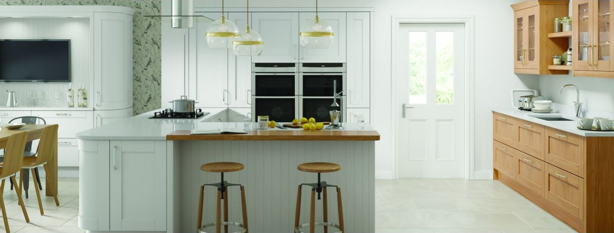 Cambridge Light Grey Painted Wood (Delivered within 2-3 Working Days)