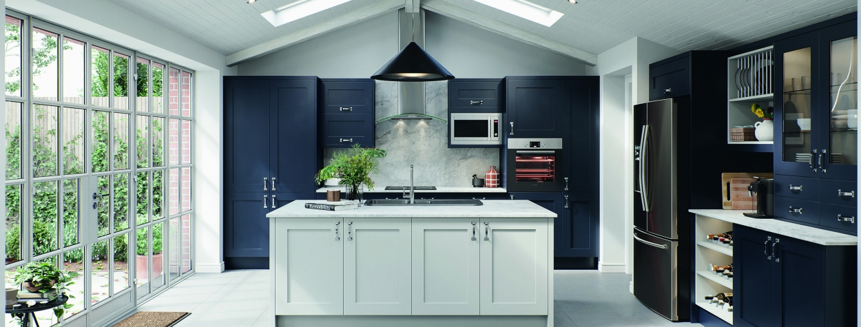 Oxford Painted Shaker Indigo Blue(Delivered within 3-5 Working Days)