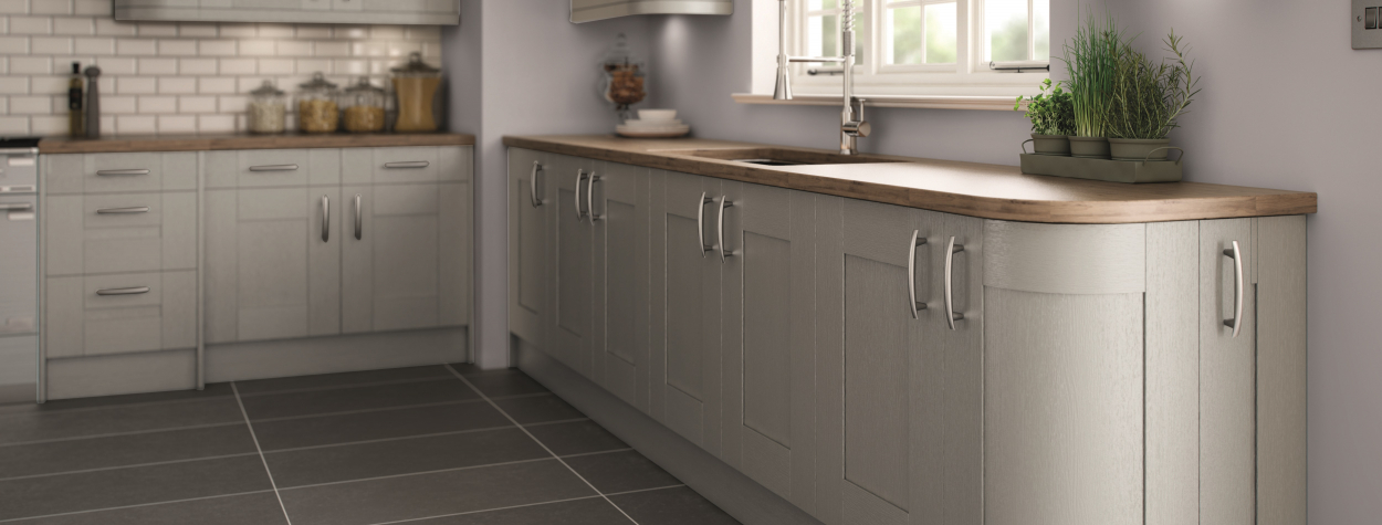 5-Piece Handpainted Shaker Silver Grey  (Delivered within 6 weeks)