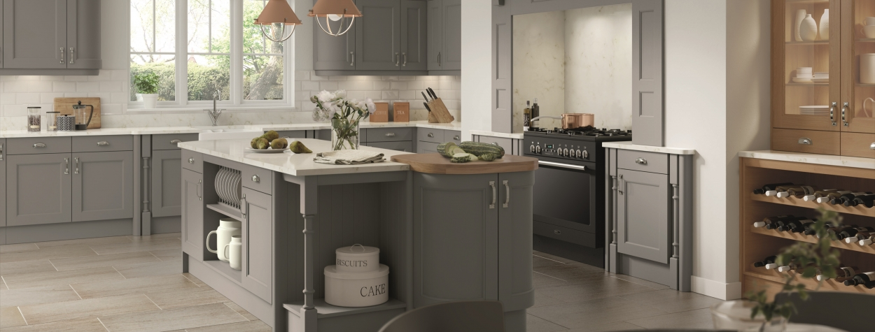 Windsor Dust Grey Painted Wood (Delivered within 2-3 Working Days)