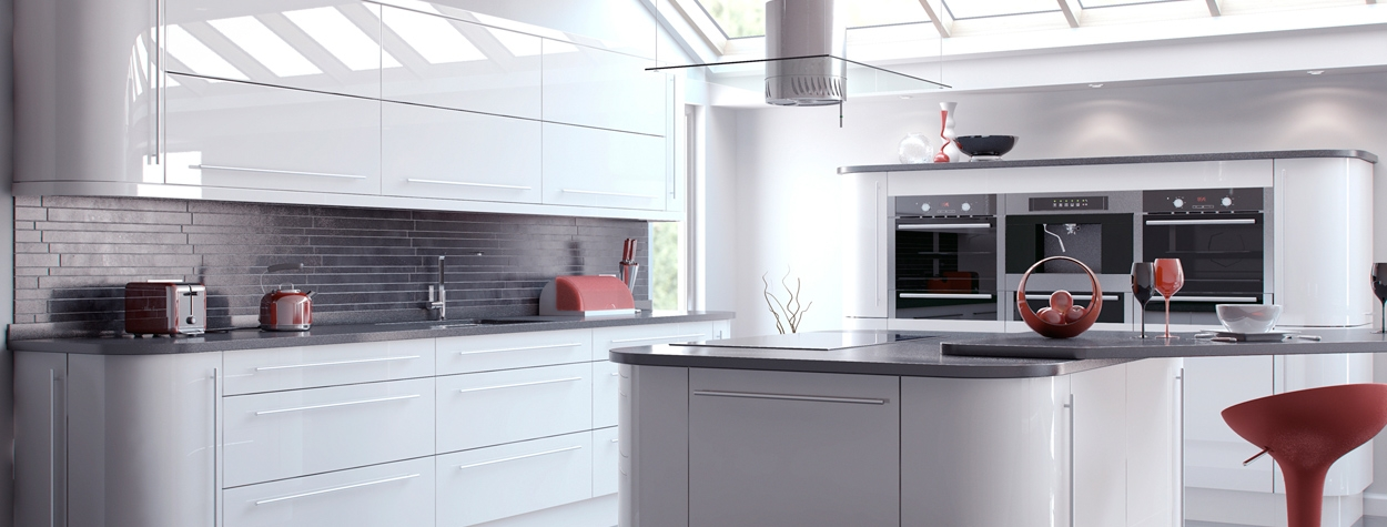 Viv High Gloss Slab White (Delivery within 3-5 working days)