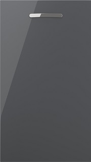 Viv High Gloss Slab Anthracite (over 60 standard sizes from stock)
