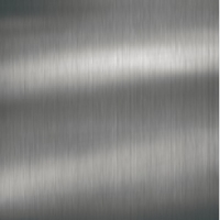 Acrylic Square Edged Brushed Metal Stainless Steel