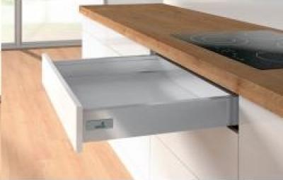 Atira Silver Soft Close Push To Open Drawerbox 70mm h x 300mm w