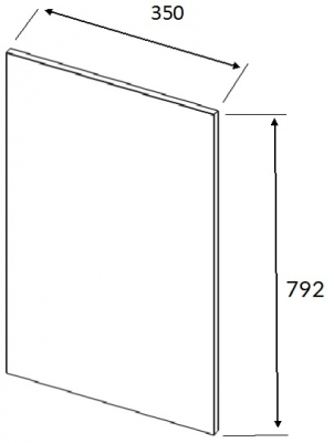 Lucente Painted Brown Grey Wall End Panel 792h x 350w x 22mm th