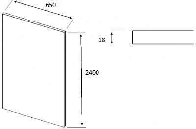 Matt Dakkar Elland Square End Panel (2400mm W x 650mm H x18mm)