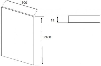 Matt Dakkar Elland Square End Panel (2400mm W x 900mm H x 18mm)