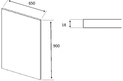 Matt Dakkar Elland Square End Panel (900mm W x 650mm H x 18mm)