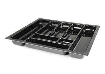 Carbon Fibre Effect Cutlery Tray 500mm