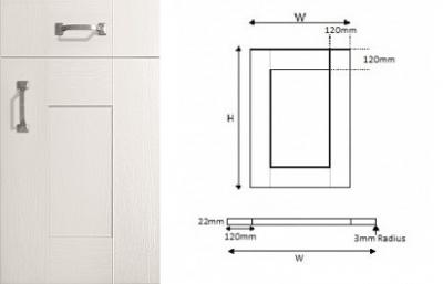Cartmel White 5-Piece Shaker