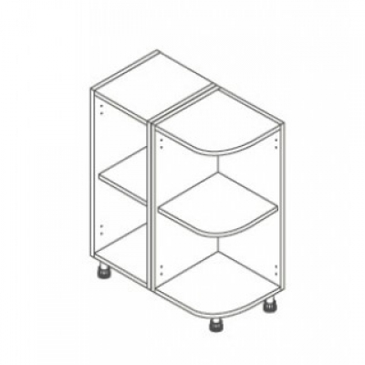 White Not ClicBox 300 Base Unit Curved