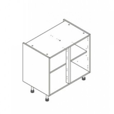 White ClicBox 900 Base Unit Door/Drawer line