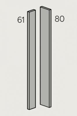 Fir Matt Light Grey 715mm h Adaptable Corner Post (Cut to suit)