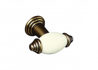 Cream Crackle Knob