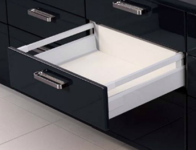 Deep Topslide Soft Close Boxed Drawer Grey 150mm x 500mm