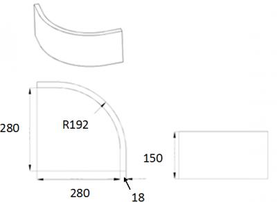 Denton Ivory Curved Plinth