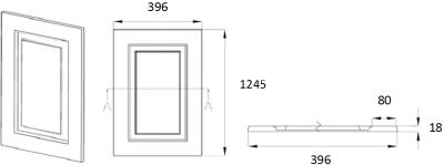 Denton Ivory 1245mm h x 396mm w