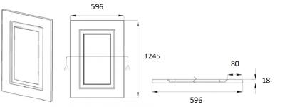 Denton Ivory 1245mm h x 596mm w