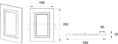 Denton Ivory 283mm h x 596mm w