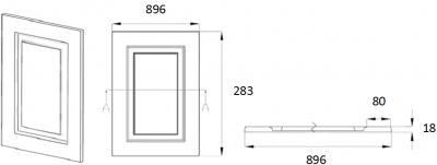 Denton Ivory 283mm h x 896mm w