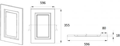 Denton Ivory 355mm h x 596mm w