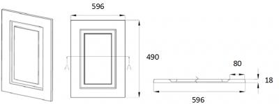 Denton Ivory 490mm h x 596mm w