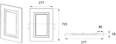 Denton Ivory 715mm h x 277mm w