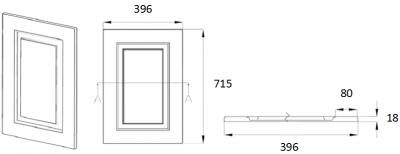 Denton Ivory 715mm h x 396mm w