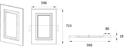 Denton Ivory 715mm h x 596mm w