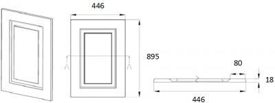Denton Ivory 895mm h x 446mm w