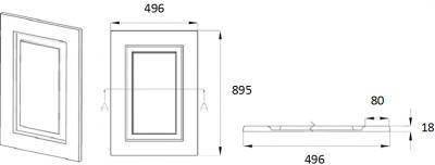 Denton Ivory 895mm h x 496mm w