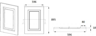 Denton Ivory 895mm h x 596mm w