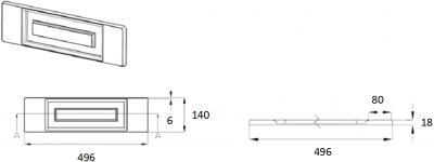 Denton Ivory 140mm h x 496mm w