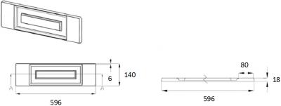 Denton Ivory 140mm h x 596mm w