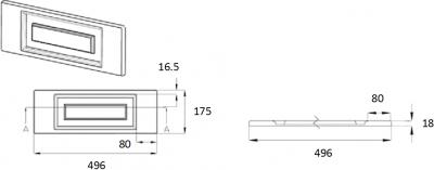 Denton Ivory 175mm h x 496mm w