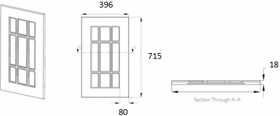 Denton Ivory Frame 715mm h x 396mm w