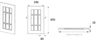 Denton Ivory Frame 895mm h x 396mm w
